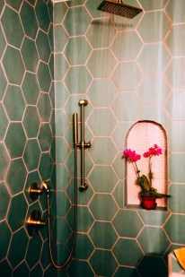Unique honeycomb tile to give your bathroom a new look 11