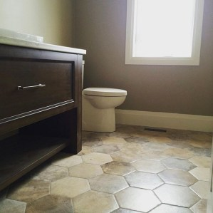 Unique honeycomb tile to give your bathroom a new look 20