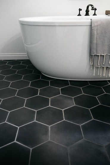 Unique honeycomb tile to give your bathroom a new look 50