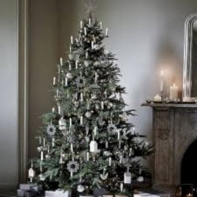 Awesome silver and white christmas tree decorating ideas 04