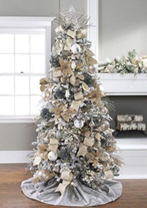 Awesome silver and white christmas tree decorating ideas 18