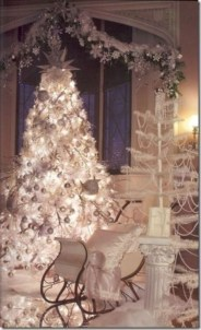 Awesome silver and white christmas tree decorating ideas 19