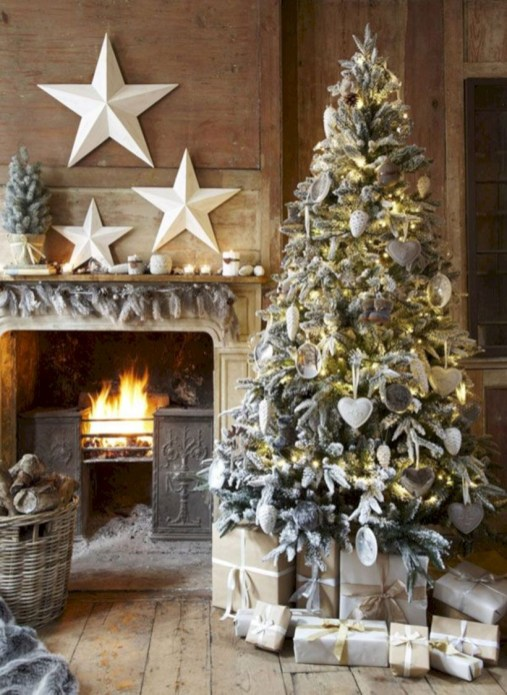 Awesome silver and white christmas tree decorating ideas 20