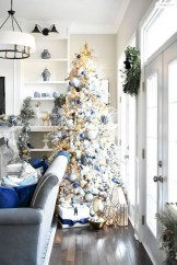 Awesome silver and white christmas tree decorating ideas 25