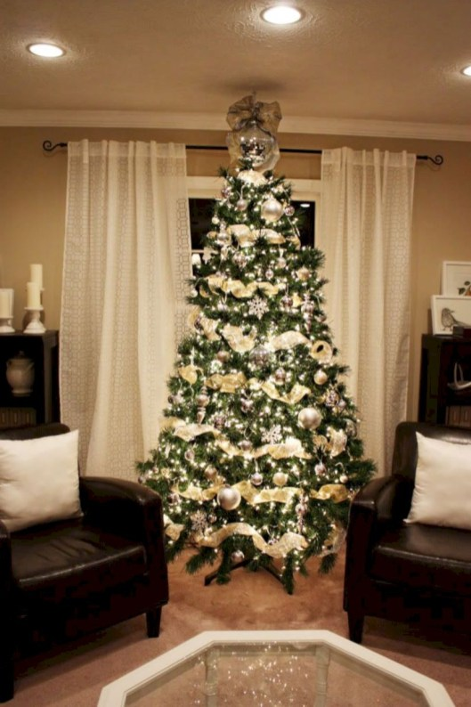 Awesome silver and white christmas tree decorating ideas 29