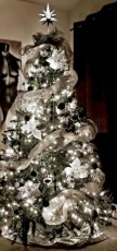 Awesome silver and white christmas tree decorating ideas 31
