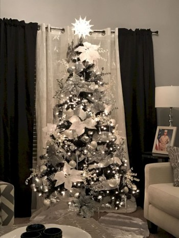 Awesome silver and white christmas tree decorating ideas 35
