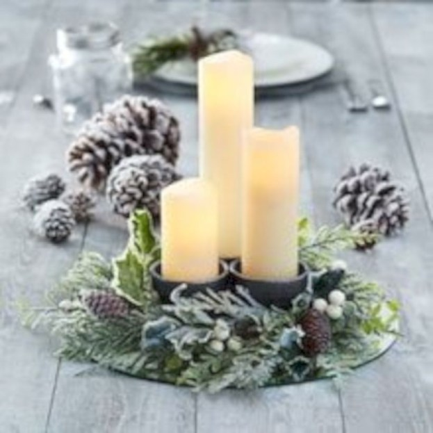 Beautiful christmas centerpiece ideas you should try 19