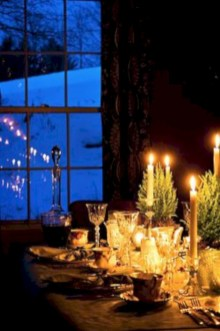 Beautiful winter table decoration ideas for a romantic dinner 02