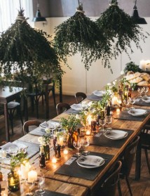 Beautiful winter table decoration ideas for a romantic dinner 33