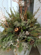 Colorful winter planters for your outdoor decorations 05