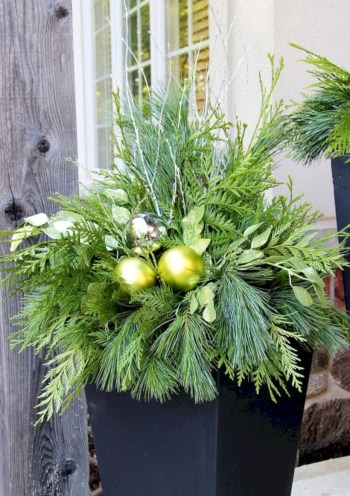 Colorful winter planters for your outdoor decorations 06