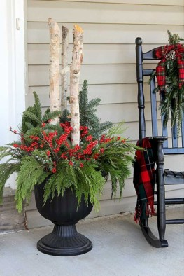 Colorful winter planters for your outdoor decorations 08