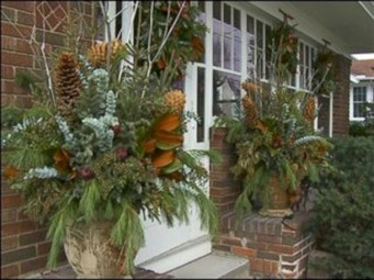 Colorful winter planters for your outdoor decorations 12