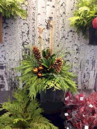 Colorful winter planters for your outdoor decorations 17