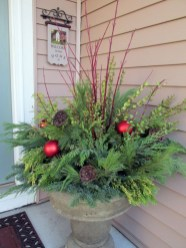 Colorful winter planters for your outdoor decorations 22