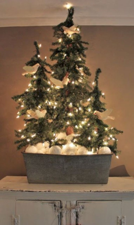 Genius ways to repurpose galvanized buckets this christmas 23