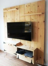 Modern tv stand design ideas for small living room 05