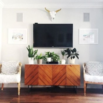 Modern tv stand design ideas for small living room 11