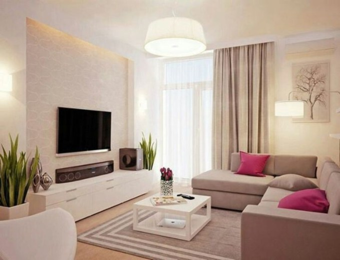 Modern tv stand design ideas for small living room 19