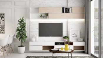 Modern tv stand design ideas for small living room 26