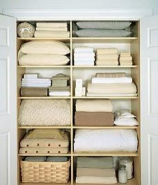 Ways to organizing your chaotic linen closet 08