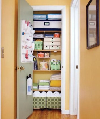Ways to organizing your chaotic linen closet 41