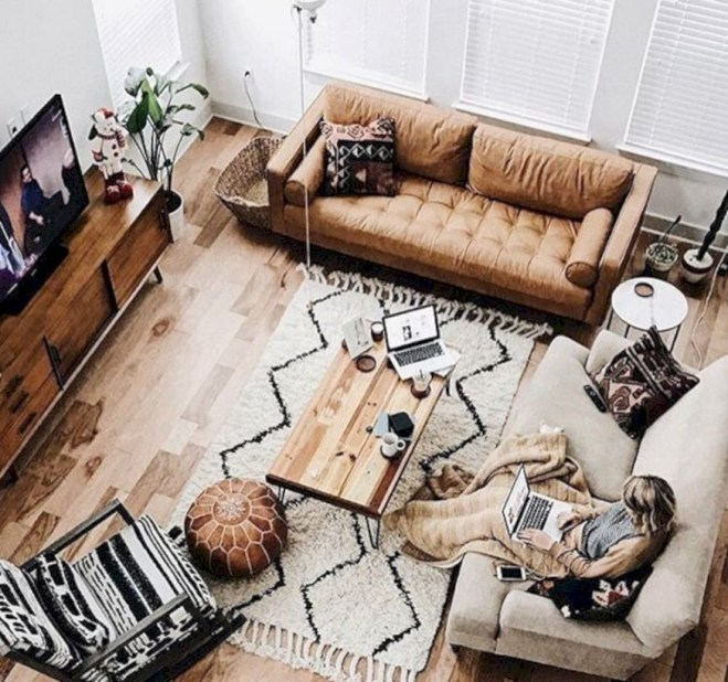 Winter hygge home decorating ideas 47