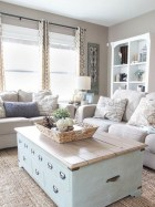 Awesome country farmhouse decor living room ideas 04