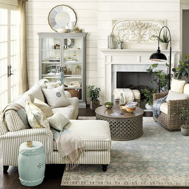 Awesome country farmhouse decor living room ideas 29