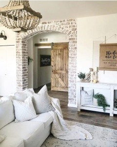 Awesome country farmhouse decor living room ideas 38