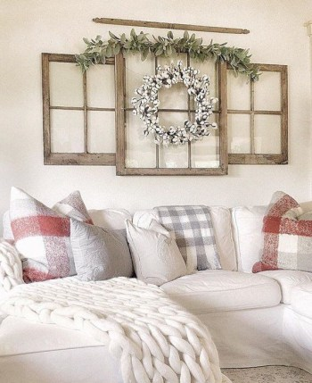 Awesome country farmhouse decor living room ideas 42