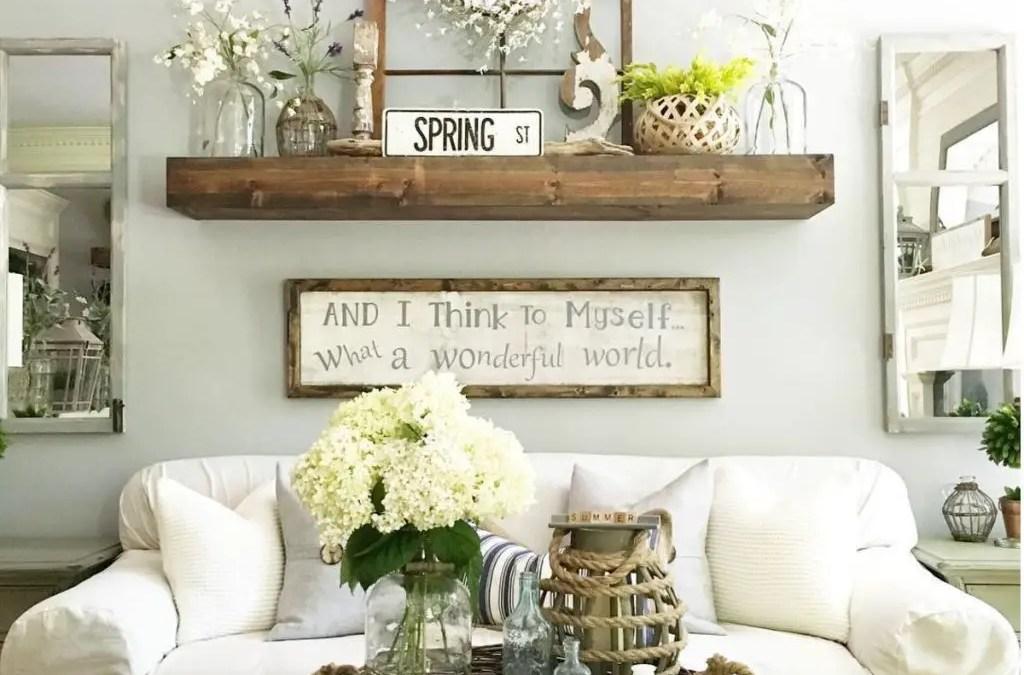 49 Awesome Country Farmhouse Decor Living Room Ideas Matchness