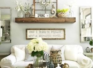 Awesome country farmhouse decor living room ideas 46