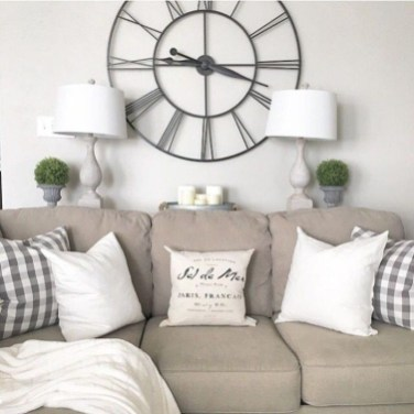 Awesome country farmhouse decor living room ideas 49