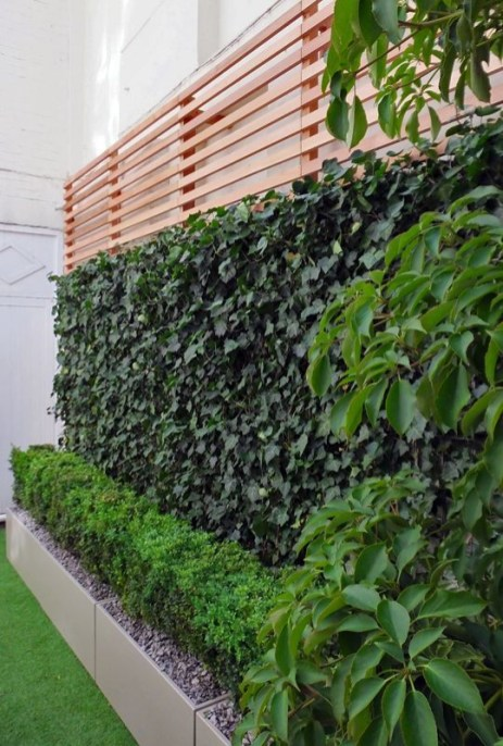 Beautiful yet functional privacy fence planter boxes ideas 21