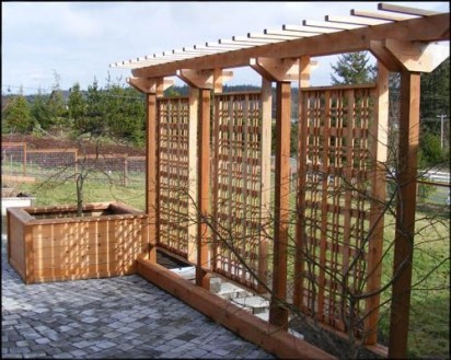 Beautiful yet functional privacy fence planter boxes ideas 33
