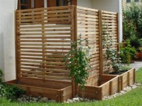 Beautiful yet functional privacy fence planter boxes ideas 37