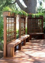 Beautiful yet functional privacy fence planter boxes ideas 38
