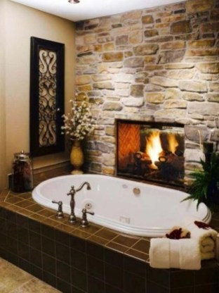 Cozy master bathroom decor ideas 08