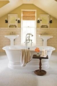Cozy master bathroom decor ideas 16