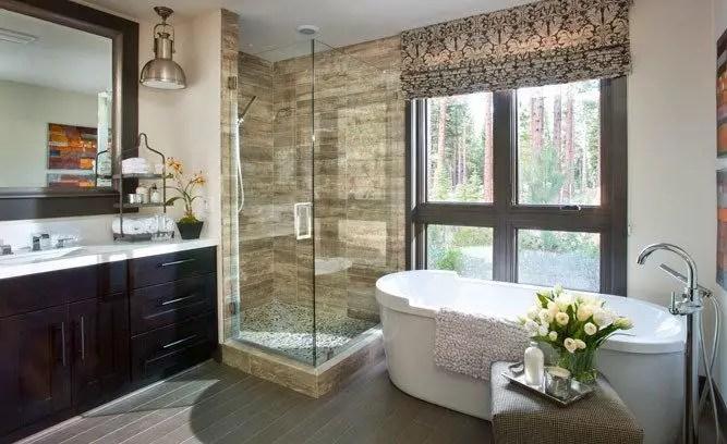 Cozy master bathroom decor ideas 19