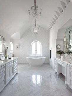 Cozy master bathroom decor ideas 24