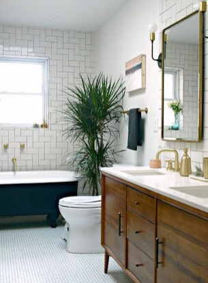 Cozy master bathroom decor ideas 38