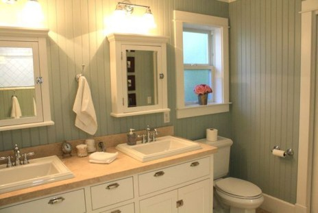 Cozy master bathroom decor ideas 40