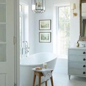 Cozy master bathroom decor ideas 41