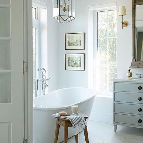 Cozy master bathroom decor ideas 41