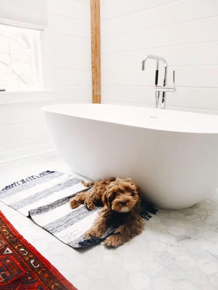 Cozy master bathroom decor ideas 48