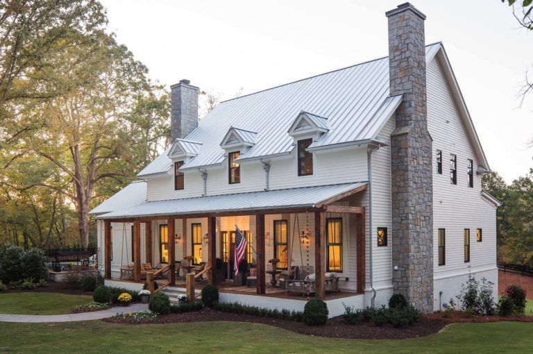 Modern farmhouse exterior design ideas 46