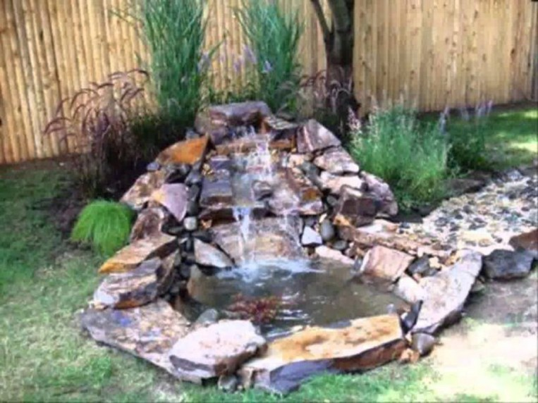 Design a fish pond garden with a waterfall concept 11
